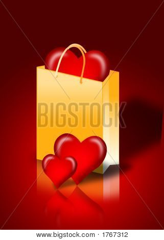 Heart In A Shopping Bag