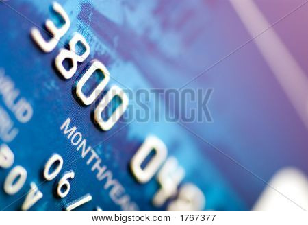 Close-Up A Credit Card