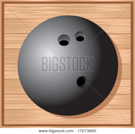 bowling ball on wood floor