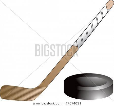 Hockey Stick Template Hockey Stick And Puck