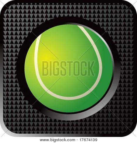 botón de web de la bola de tenis