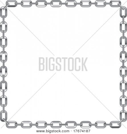 chain link frame with white background