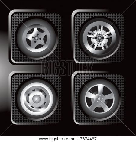 assorted black tire icons