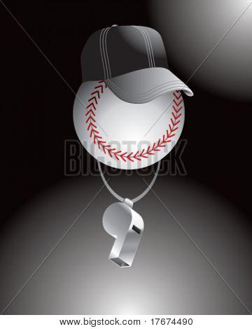 cartoon baseball referee