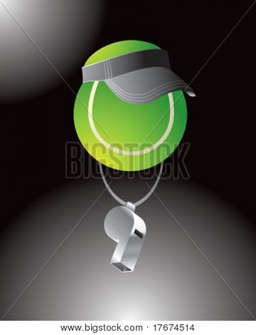 cartoon tennis referee