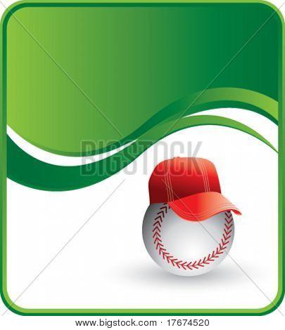 classy baseball hat background