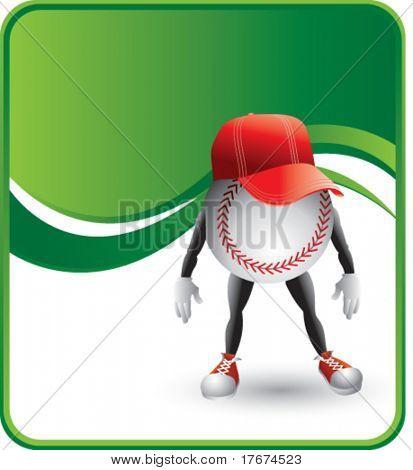 classy cartoon baseball hat background