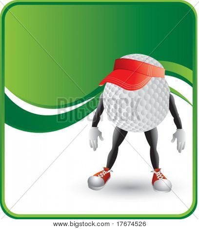 classy cartoon golf ball hat background