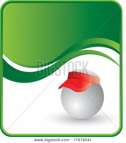 classy ping pong ball hat background