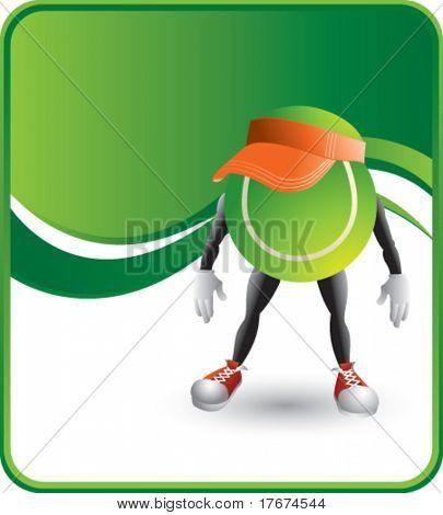 classy cartoon tennis ball hat background
