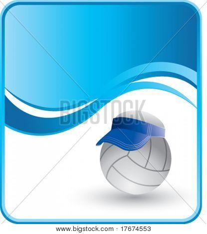 classy volleyball visor background