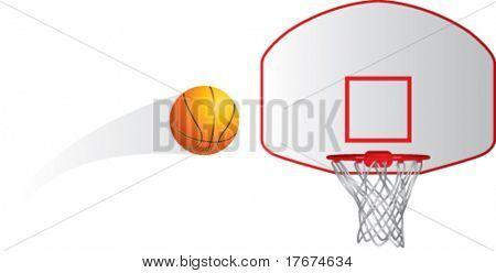 basketball flies into net