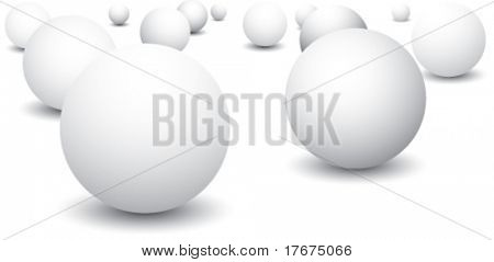 scattered ping pong balls