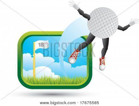 big shot golf ball man