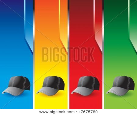 multi color hat banners