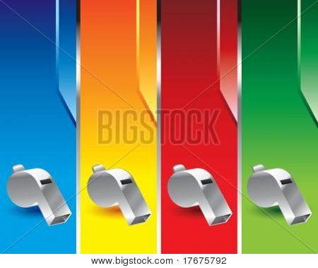 multi color whistle banners