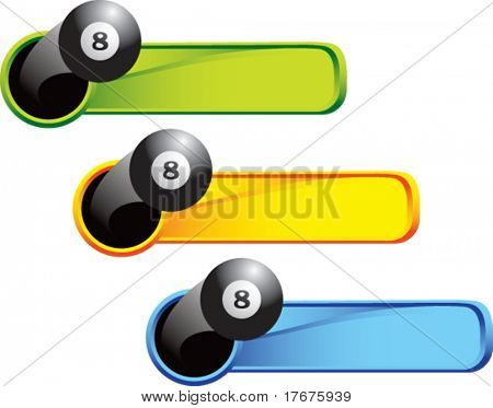 multi color thrown pool ball web banner