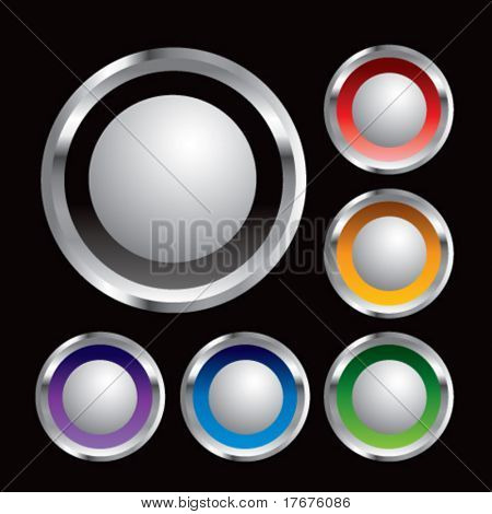 multiple colored round metal ping pong balls