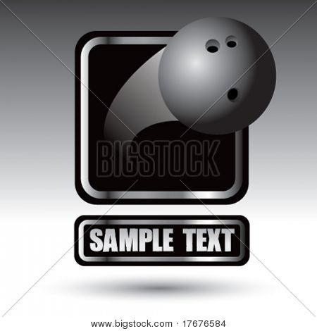 silver square banner for bowling ball