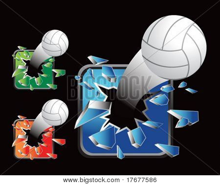multiple colored icon breaking volleyballs