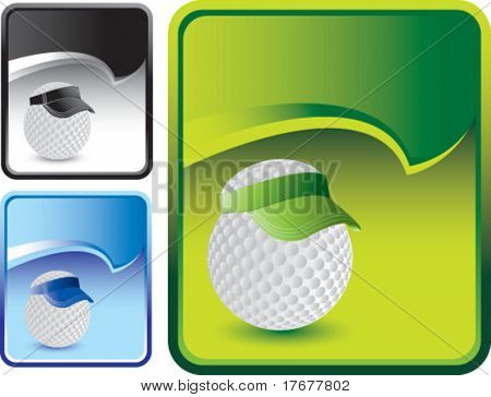 golf ball with visor on rip curl background