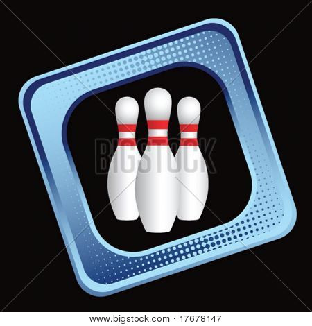 colored sports block featuring bowling pins
