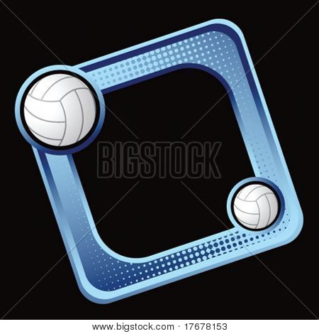colored sports block featuring volleyballs