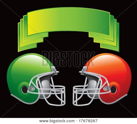 green crest with football helmets