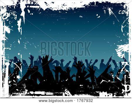 Multidão de grunge