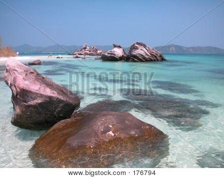 Rocky Beach In Thailand