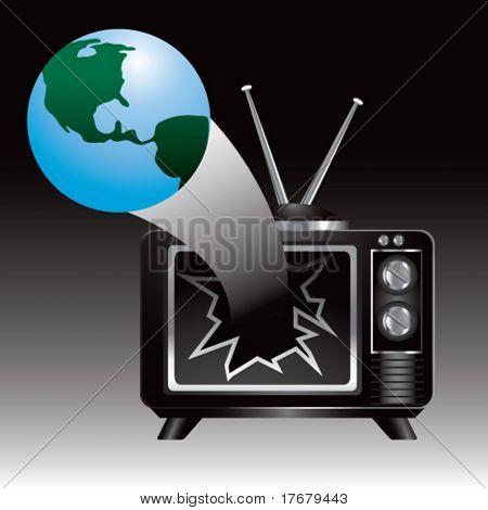 tv broken by globe