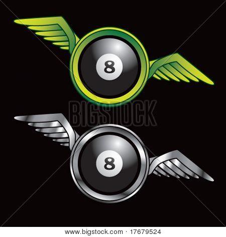 icono alado con bola ocho