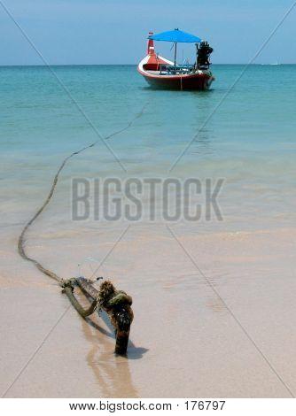 Boat On The Thai Beach