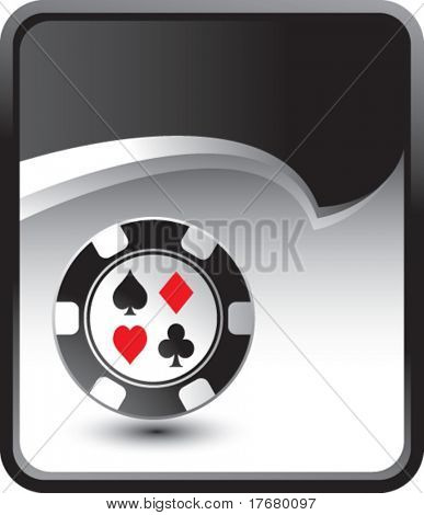 poker chip on rip curl background