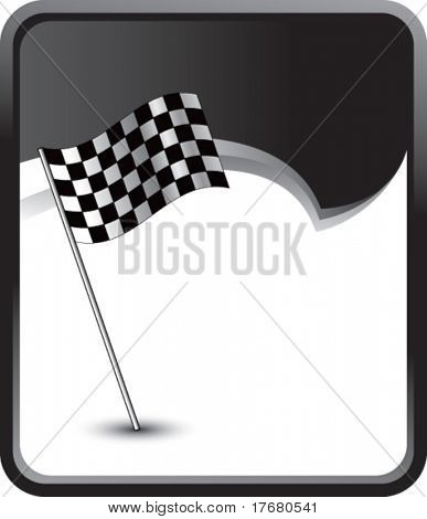 racing checker flag on rip curl background