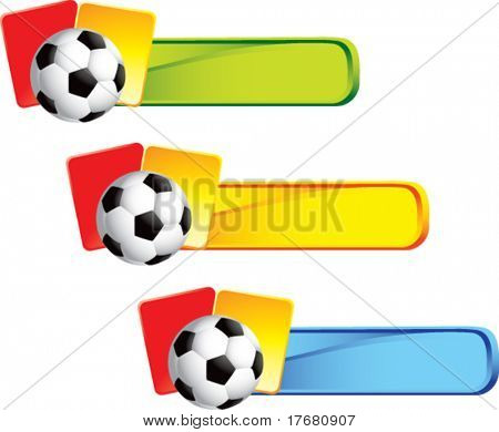 soccer ball and penalty cards on colored tabs