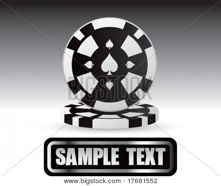 gambling chips on nameplate