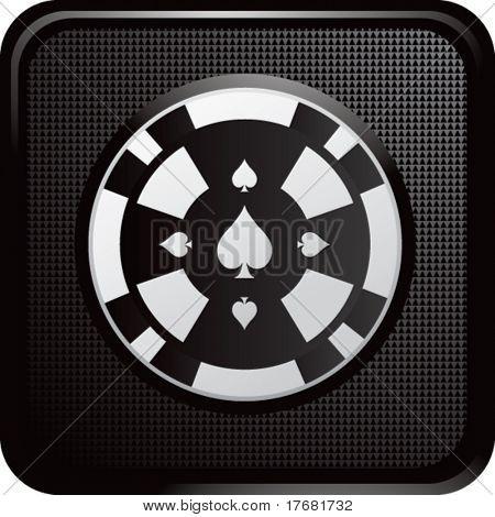 gambling chip on web button