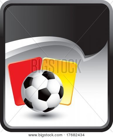 soccer ball and penalty cards on rip curl background