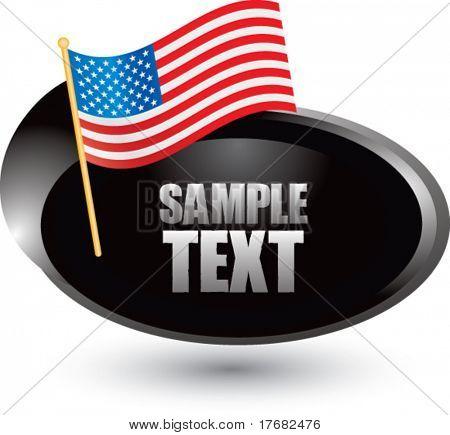 bandeira americana em prata swoosh