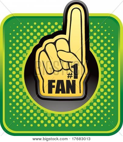 number one fan foam hand web button