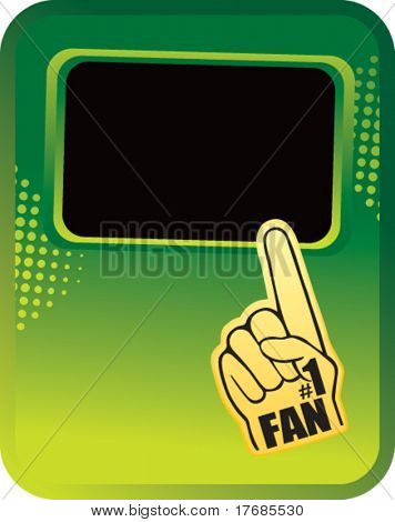 number one fan foam hand template banner