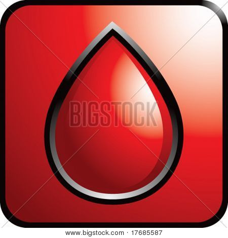 blood droplet on red web button