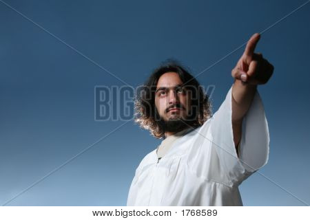 Jesus Pointing His Finger