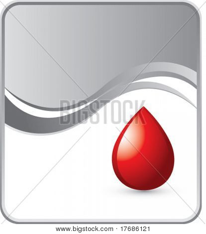 blood droplet on silver background