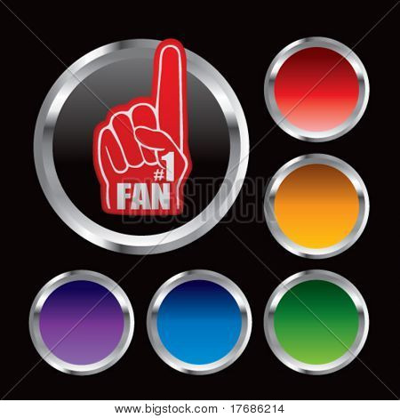 number one fan foam hand on round web button