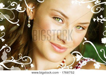 Beautiful Brunette Bride With Swirls And Scrolls