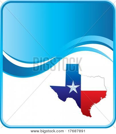 lonestar icon on blue wave background