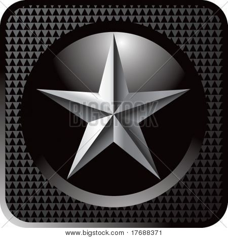 silver star on black web button