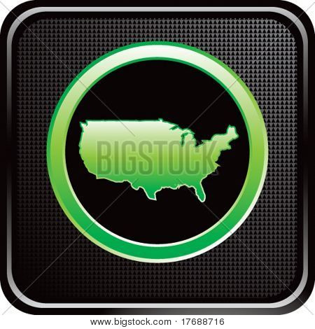 united states icon on black web button